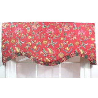 Norwell Red Ruffled Cornice Valance