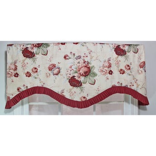 Waverly Norfolk Rose Natural Ruflled Cornice Valance