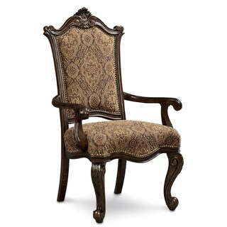 Grand European Upholstered Arm Chair (Set of 2)