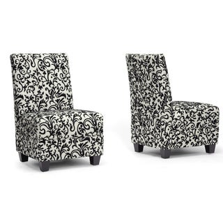 Baxton Studio Cream Microfiber Slipper Chair (2)