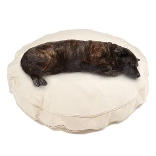 Sweet Dreams Beige Indoor/ Outdoor Round Corded Sunbrella Fabric Pet Bed