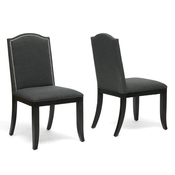 Baxton Studio Grey Dining Chair (Set of 2)