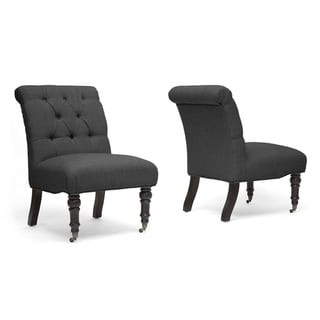 Baxton Studio Grey Slipper Chair (Set of 2)