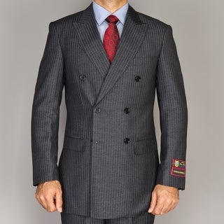 Giorgio Fiorelli Pinstripe Grey Double Breasted Suit