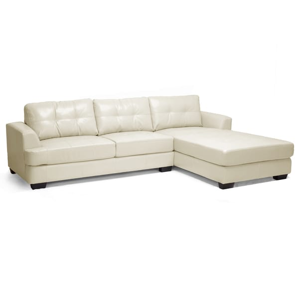Baxton Studio Cream Bonded Leather Sectional Sofa  : Baxton Studio Cream Leather Sectional Sofa d3a0e3d3 dfb7 482f 9627 509836dfbe2c600 from www.overstock.com size 600 x 600 jpeg 10kB