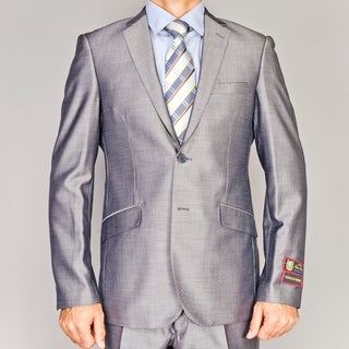 Giorgio Fiorelli Shiny Grey Slim-Fit Suit