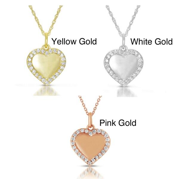 14k Gold 1/4ct TDW Diamond Heart Pendant (GH, I1)