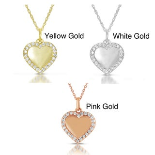 14k Gold 1/4ct TDW Diamond Heart Pendant (GH, I1)