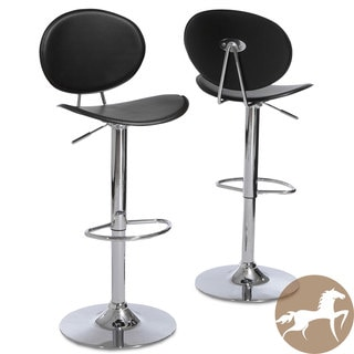 Christopher Knight Home Fijian Black Adjustable Barstools (Set of 2)