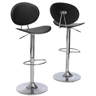 Christopher Knight Home Fijian Black Adjustable Barstools (Set of 2)