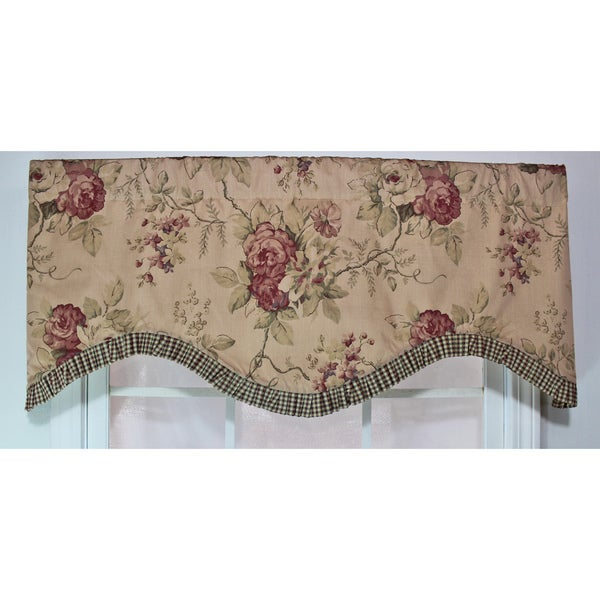 Doreen Earth Ruffled Cornice Valance