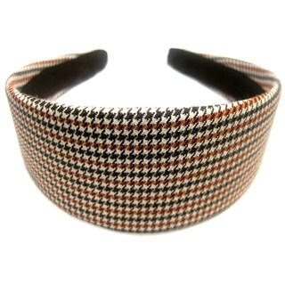 Crawford Corner Shop Brown Rust Houndstooth Headband