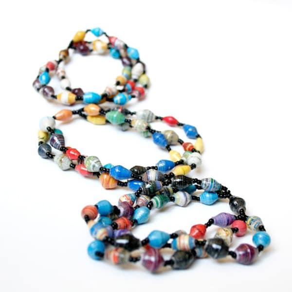 Multicolor Classic Triple Bracelet (Uganda)