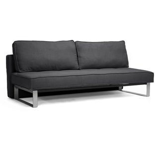 Baxton Studio Dark Grey Linen Sofa Bed