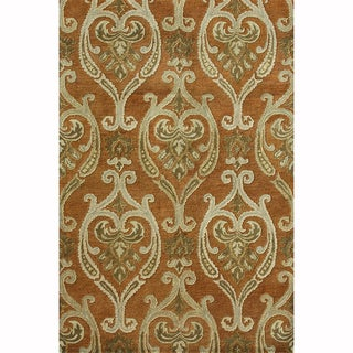 Hand-tufted Ferring Spice Wool Rug (3'6 x 5'6)