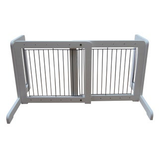 White Free-standing 23.6-39.4-inch Pet Gate