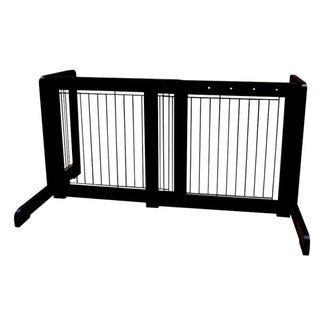 Black Free-standing 23.6-39.4-inch Pet Gate
