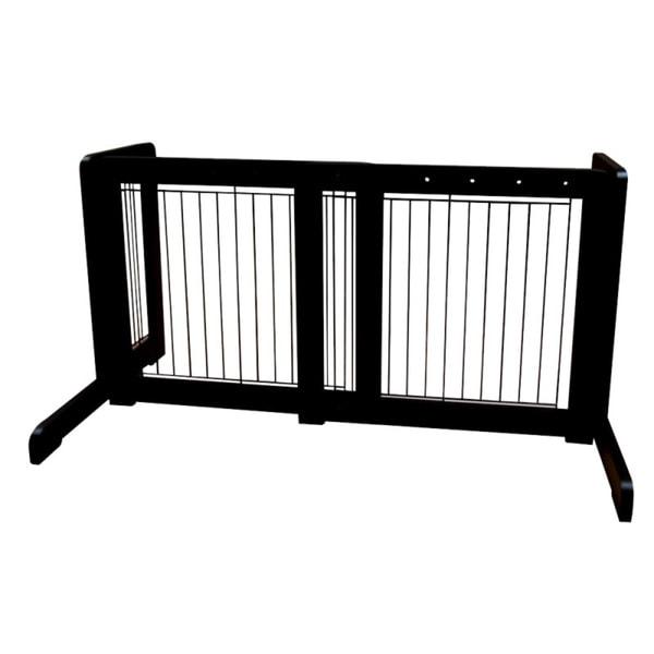 Black Free-standing 23.6-39.4-inch Pet Gate