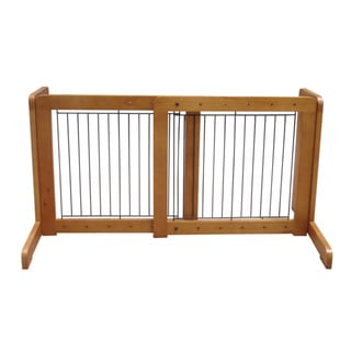 Light Oak Free-standing 23.6-39.4-inch Pet Gate