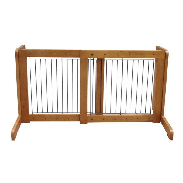 Light Oak Free-standing 23.6-39.4-inch Pet Gate