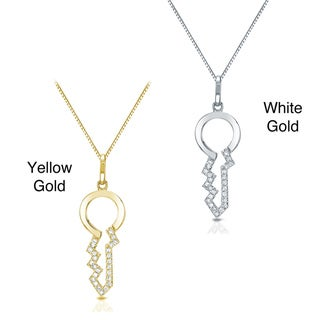 Auriya 14k Gold Diamond Key Pendant (H-I, I1-I2)