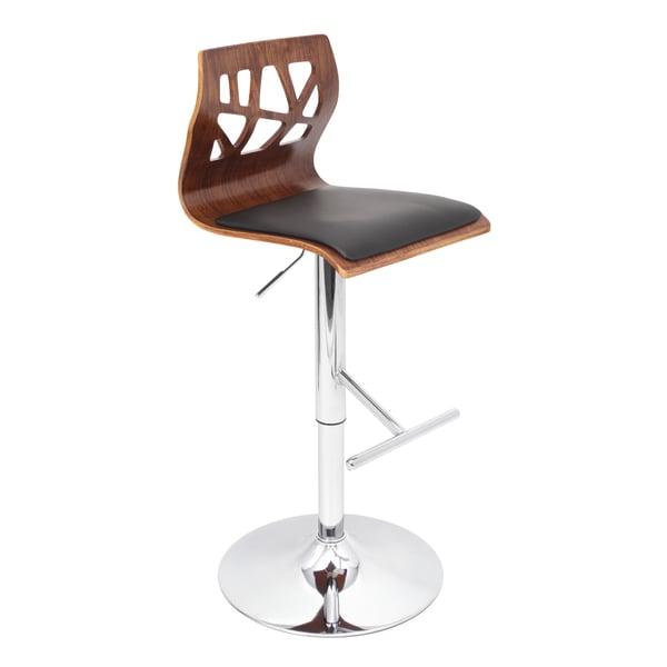Folia Walnut Wood Adjustable Barstool
