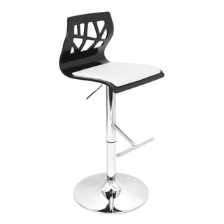 Folia Black Wood Adjustable Barstool