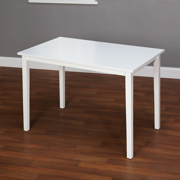 Shaker Dining Room Table in White Solid Antique Furniture