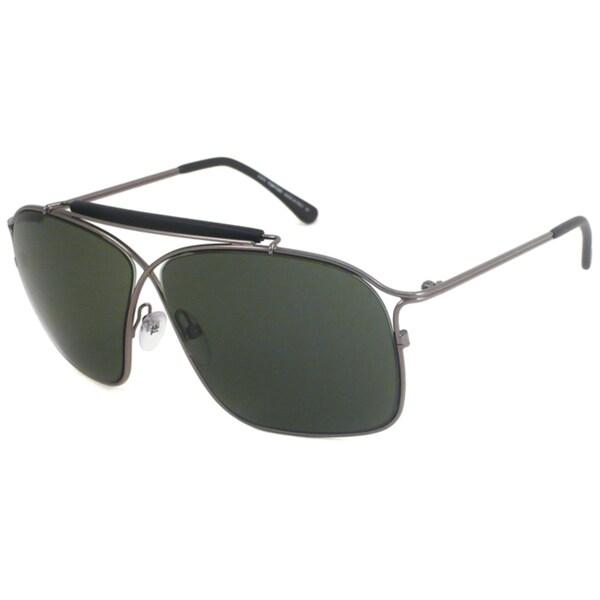 Tom Ford Women's TF194 Felix Gunmetal Aviator Sunglasses