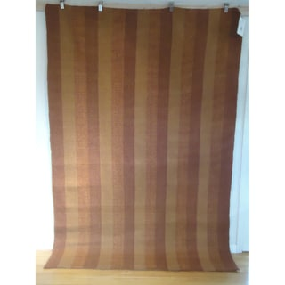 Vertical Chatauqua Rust and Pumpkin 100-percent Egyptian Wool Flatweave Rug (6' x 9')
