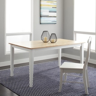 Large Shaker Dining Table in White and Natural
