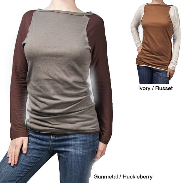 AtoZ Women's Raglan Sleeve Top