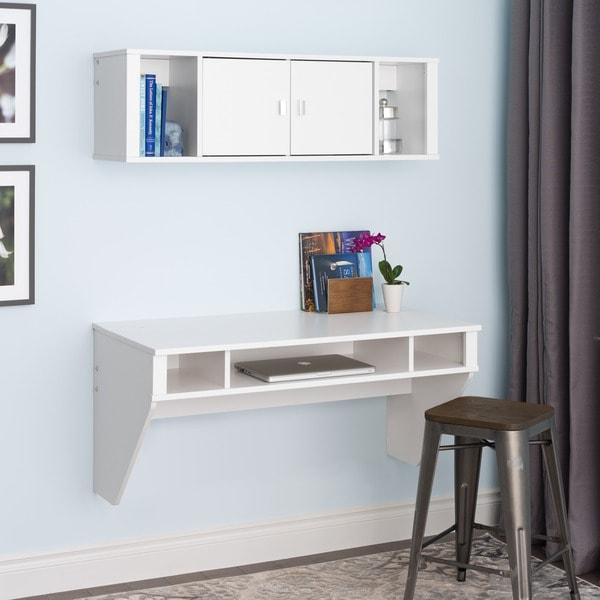 Floating Computer Desk floating computer desk wall hanging white sturdy laptop home