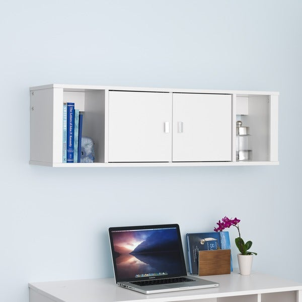 Prepac SOHO White Floating Hutch