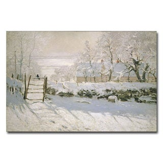 Claude Monet 'The Magpie, 1869' Canvas Art