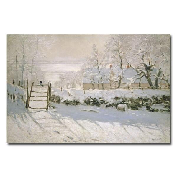 Claude Monet 'The Magpie, 1869' Canvas Art