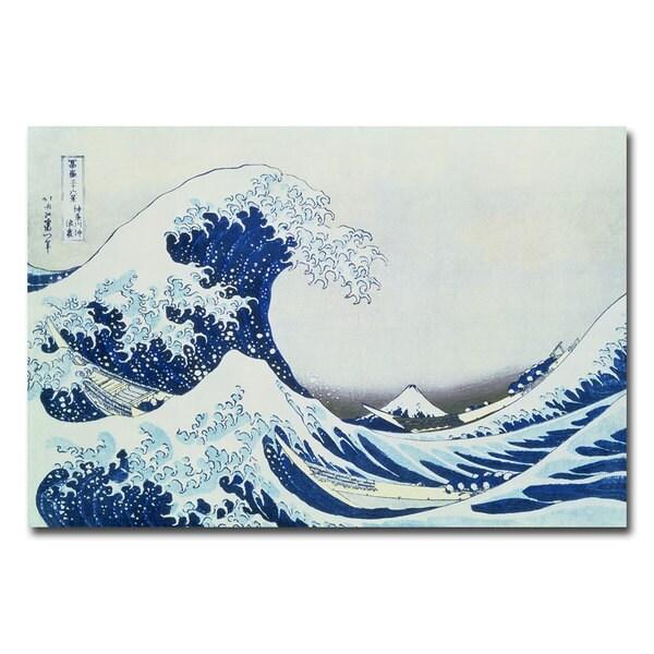Katsushika Hokusai 'The Great Kanagawa Wave' Canvas Art