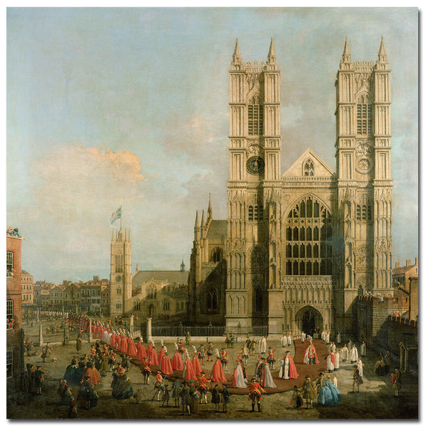 Canaletto 'Procession of the Knights' Canvas Art