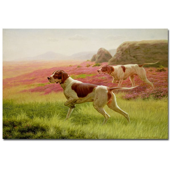 Harrington Bird 'Pointers in the Landscape' Canvas Art