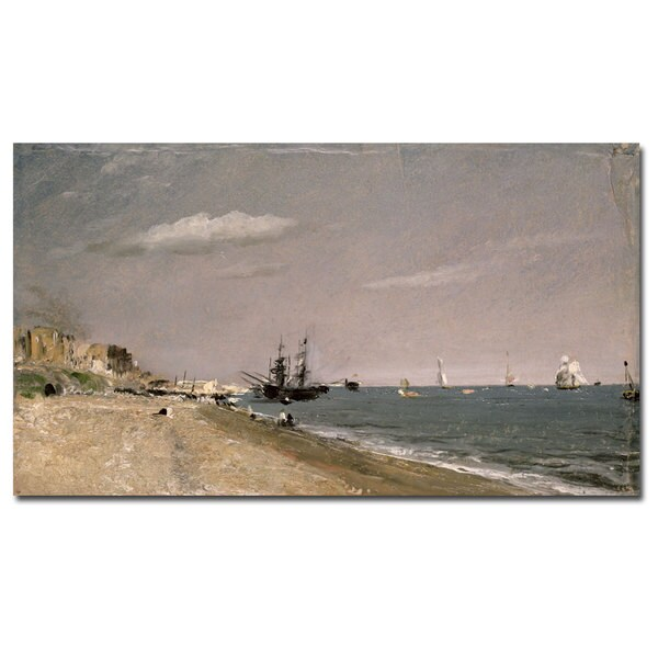 John Constable 'Brighton Beach with Colliers 1824' Canvas Art