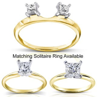 Annello 14k Gold 1/5 to 1ct TDW Diamond Wrap or Solitaire Ring (H-I, I1-I2)