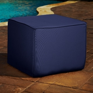 Brooklyn 30-inch Navy Square Indoor/ Outdoor Sunbrella Ottoman