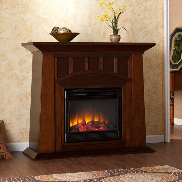 Bayard Espresso Electric Fireplace