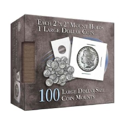 Large Dollar Size Coin Mount: 100 Count (Hardcover)