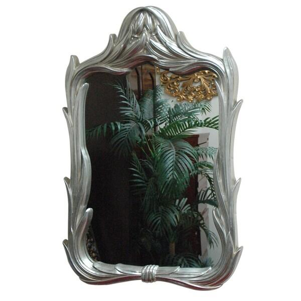 Rectangle Silver Contemporary Framed Mirror