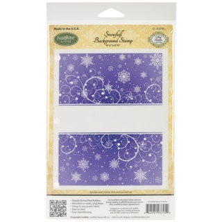 Just Rite 'Snowfall' Background Red Rubber Cling Stamp (4.5 x 5.75 inches)