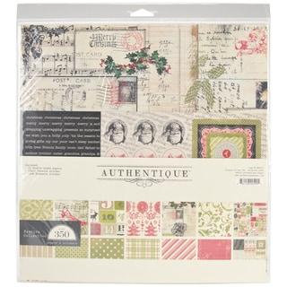 Authentique Festive Collection 12x12-inch Paper Kit