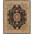 Nourison 2000 Hand-tufted Panel Black Rug (7'9 x 9'9)