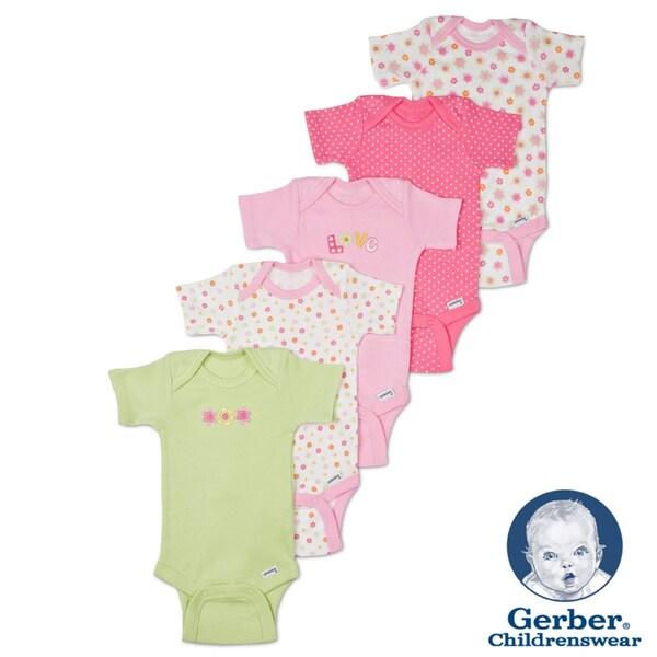 Gerber Girl Onesies Variety Pack