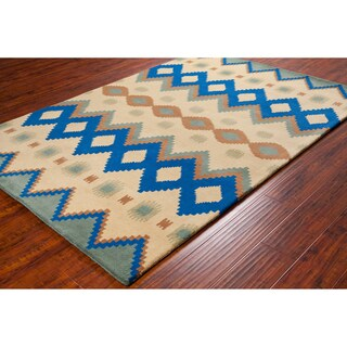 Handmade Allie Abstract Wool Rug (5' x 7'6)
